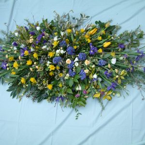 Spring Flowered Coffin Spray