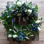 Blue and White Scottish Wreath