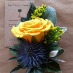Jacket buttonhole of a Rose and thistle