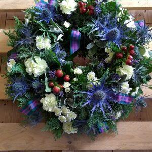 Blue Scottish Style Standard Wreath