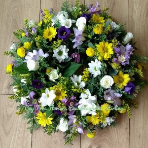 Wreath in delicate colours
