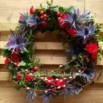Blue and Red Scottish Style Wreath