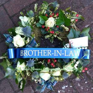 Scottish Style Personalised Wreath