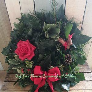 Christmas Cemetery Wreath
