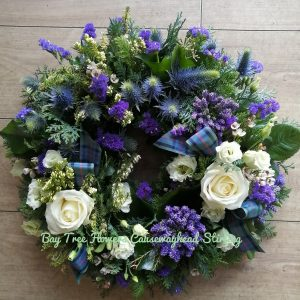 Blue Scottish Deluxe Wreath