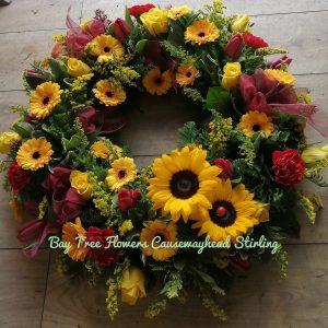 Large Colourful Wreath