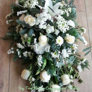 Coffin spray White and Cream Shades