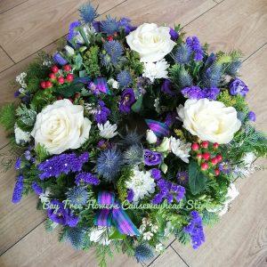 Blue Scottish Style Deluxe Wreath