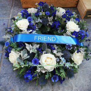 Personalised Blue Scottish Wreath